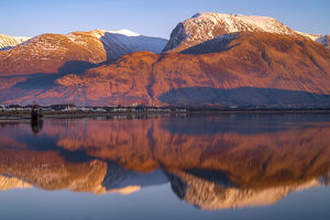 Sunset light on Ben Nevis, Scotland, UK