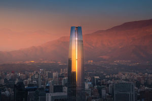 travel imagery/travel photographer collections coolbiere landscapes/sunset view santiago city