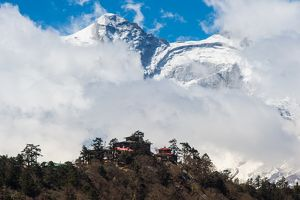 Tengboche Monastery with Kongde mountain background