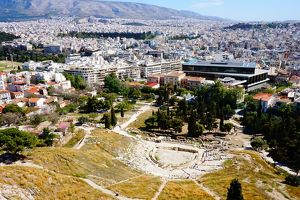 Theatre of Dionysus and Acropolis Museum, Athens, Greece
