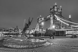 Tower Bridge and Dolphin Statue