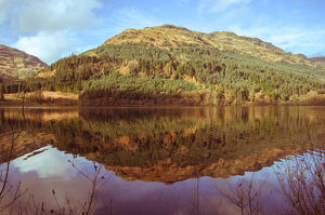 Tranquil Loch Eck in sunshine, Benmore, Cowal