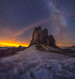 travel imagery/travel photographer collections coolbiere landscapes/tre cime di lavaredo milky way