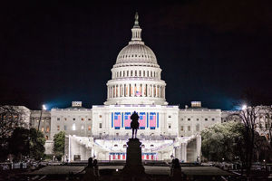 The U.S. Capitol Building Readied for the Trump Administration