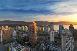 Vancouver BC Cityscape at Sunset