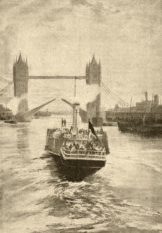 Victorian view of Tower Bridge, London
