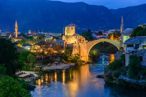 View of Mostar old town
