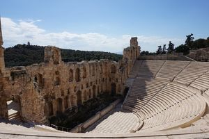 Side View Odeon of Herodes Atticus, Athens, Greece