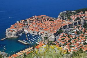 View of Old Town, the walled city of Dubrovnik, UNESCO World Heritage Site, Dalmatia