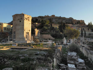 View of The Roman Agora in Athens, Greece