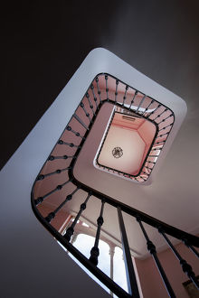 View of stairwell looking up