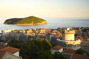 Walled City of Dubrovnik, Southeastern Tip of Croatia, Dalmation Coast, Adriatic Sea