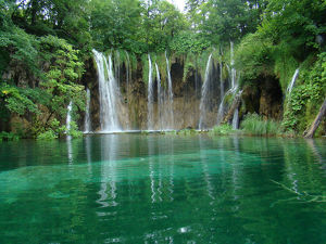 Waterfalls, Plitvice Lakes, Croacia