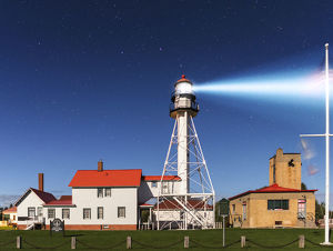 Whitefish Point Lighthouse by Moonlight