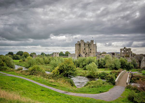 Wide view of Trim Castle