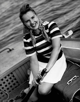 Woman in a speedboat