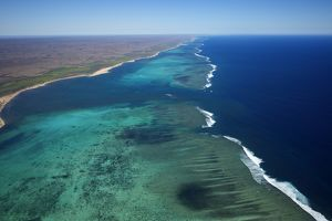 Aerial photograph of Ningaloo Reef