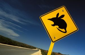 Bilby road sign