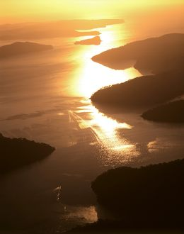 Cowan Water joining Hawkesbury River,