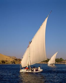 Felucca on the River Nile,