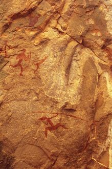 Free-hand Aboriginal rock art,