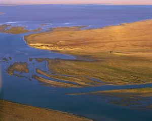 Margaret River flowing into Lake Eyre South,