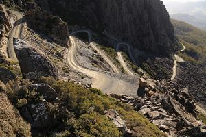 Road known as Jacobs Ladder, famous for its series of hairpin bends