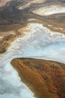 Part of a salt lake, from the air