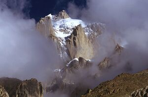 Summit crags of Paiju Peak, 6610 m, Karakoram Range