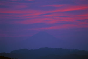 photographer galleries/nature production collection/sunset afterglow mount fuji