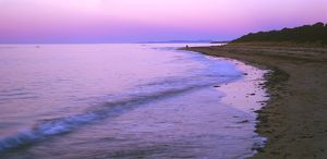 Sunset afterglow at Ulverstone Beach,
