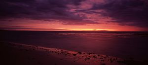 Sunset over the Indian Ocean and Ningaloo Reef