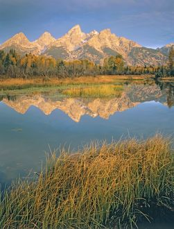 Teton Range at dawn,