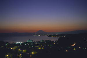 photographer galleries/nature production collection/view small city zushi sagami bay mount fuji