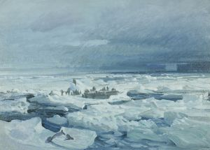 Camp on the breaking pack ice, Weddell Sea, 1915