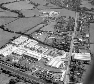 Aerial view of Edenbridge Kent. industrial estate, bottom left is within the town envelope