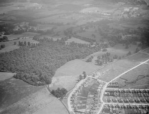 An aerial view of Footscray Place and North Cray Estate in Kent. <br> 1939