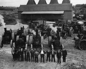 Agricultural Machinery : Mr Chris Lambert, of Horsmonden, Kent, was a steam haulage