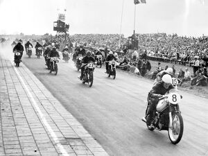 Assen, Holland: Great Britain took the first three places in the Dutch T.T. Race, 350 c