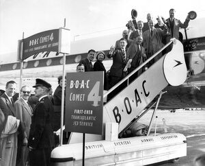 The BOAC Comet 4 beat the much publicised Pan American Airways Boeing 707 in setting
