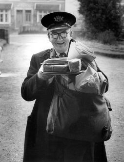 On His Last Delivery, 12th November 1959 Postman Frederick Smith of Essex Road, Longfield