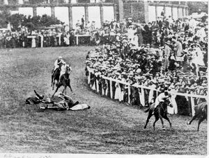 The Derby at Epsom the suffragette incident Emily Davison The horse Anmer (owned
