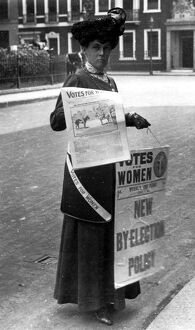 English suffragette feminist newpaper, 1908