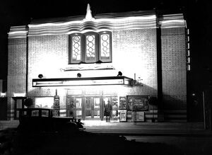 Exterior view of Commodore Cinema. 1933