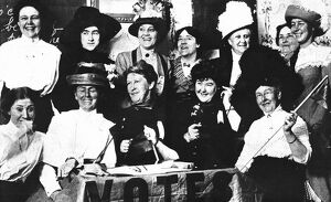Twelve happy ladies photographed in a San Francisco hotel in November 1919 just