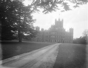 Highclere Castle, Newbury, Country residence of Lord and Lady Carnarvon. 11 April
