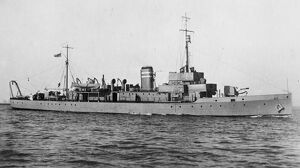 HMS Badminton. 1 March 1927