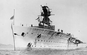 HMS Hermes was an aircraft carrier built for the Royal Navy