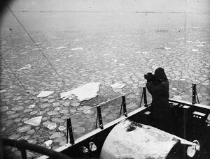 Ice floes in North Sea. Ice floes are still menacing fishing fleets and colliers
