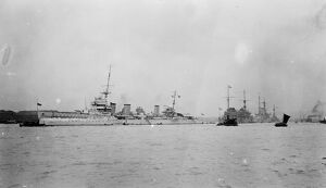 International warships at Shanghai. HM Enterprise ( British, Jules Michelet ( French